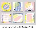 set of abstract backgrounds...   Shutterstock . vector #1176641014
