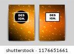 dark orange vector cover for...