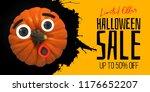 happy halloween eyes and... | Shutterstock .eps vector #1176652207