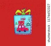 merry christmas card. doodle... | Shutterstock .eps vector #1176652327