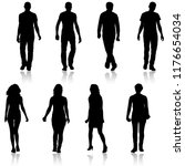 silhouette group of people... | Shutterstock . vector #1176654034
