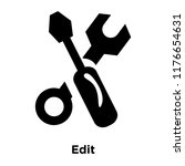 edit icon vector isolated on... | Shutterstock .eps vector #1176654631
