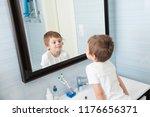 cute healthy caucasian small... | Shutterstock . vector #1176656371