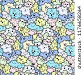 seamless pattern with funny... | Shutterstock .eps vector #1176658264