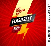 flash sale banner template...   Shutterstock .eps vector #1176658957