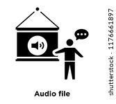 audio file icon vector isolated ...