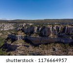 a canyon with large rocks with... | Shutterstock . vector #1176664957