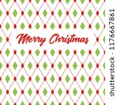 merry christmas greeting card.... | Shutterstock . vector #1176667861