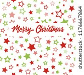 christmas greeting card with... | Shutterstock . vector #1176667864