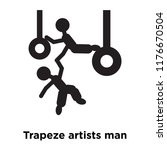 trapeze artists man icon vector ... | Shutterstock .eps vector #1176670504
