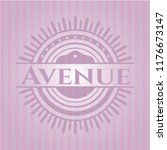 avenue badge with pink... | Shutterstock .eps vector #1176673147