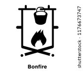 bonfire icon vector isolated on ... | Shutterstock .eps vector #1176673747