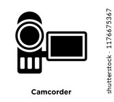camcorder icon vector isolated...   Shutterstock .eps vector #1176675367