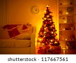 Lighted Christmas Tree With...