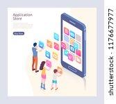 application store isometric... | Shutterstock .eps vector #1176677977