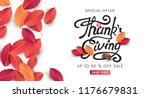 calligraphy of thanksgiving day ... | Shutterstock .eps vector #1176679831