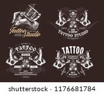 tattoo emblems  badges and... | Shutterstock .eps vector #1176681784