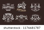 tattoo emblems  badges and... | Shutterstock .eps vector #1176681787