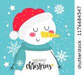 merry christmas childrens... | Shutterstock .eps vector #1176684547