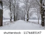 winter attack   road and trees...   Shutterstock . vector #1176685147