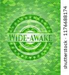 wide awake realistic green... | Shutterstock .eps vector #1176688174