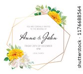 wedding floral invite ... | Shutterstock .eps vector #1176688564