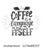 banner with coffee quotes .... | Shutterstock .eps vector #1176689257