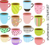 vector of pretty cup and mug of ... | Shutterstock .eps vector #117669187