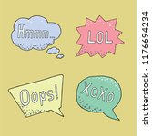 thought frame. speech bubble.... | Shutterstock .eps vector #1176694234