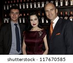 NEW YORK - OCTOBER 15: DITA VON TEESE, ALFRED COINTREAU AND JUSTIN WESTON CELEBRATE COCKTAIL COUTURE AT LA MAISON COINTREAU DEBUTS on October 15, 2012 in NEW YORK CITY - stock photo