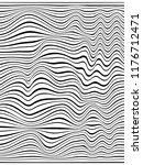 warped lines.wavy black stripes....   Shutterstock . vector #1176712471