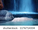 cascade water fall with blue... | Shutterstock . vector #1176714334