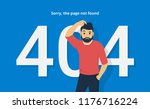 404 error concept vector... | Shutterstock .eps vector #1176716224