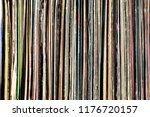 vintage vinyl collection.... | Shutterstock . vector #1176720157