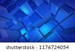 a futuristic 3d illustration of ... | Shutterstock . vector #1176724054