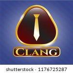 golden emblem or badge with... | Shutterstock .eps vector #1176725287