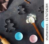 cooking christmas cookies...   Shutterstock . vector #1176728284
