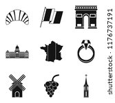 booze icons set. simple set of...   Shutterstock . vector #1176737191