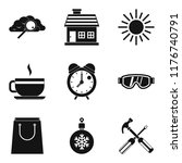 warm atmosphere icons set.... | Shutterstock . vector #1176740791