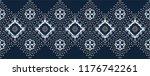 ikat geometric folklore... | Shutterstock .eps vector #1176742261