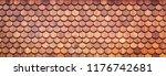 wood shingle background | Shutterstock . vector #1176742681