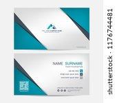 business card vector background | Shutterstock .eps vector #1176744481