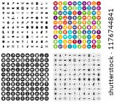 100 insects icons set in 4... | Shutterstock . vector #1176744841