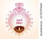 creative happy diwali... | Shutterstock .eps vector #1176747664