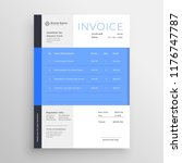 modern blue invoice template... | Shutterstock .eps vector #1176747787