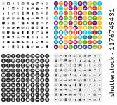 100 household products icons... | Shutterstock . vector #1176749431