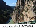 vew of 'el caminito del rey' ... | Shutterstock . vector #1176750184
