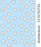 cute white stars vector pattern.... | Shutterstock .eps vector #1176752731