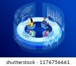 isometric business data... | Shutterstock .eps vector #1176756661