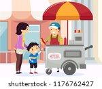 illustration of a stickman... | Shutterstock .eps vector #1176762427